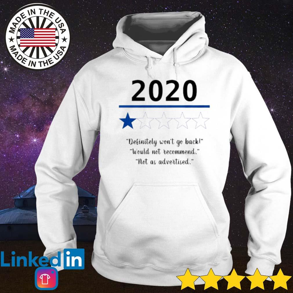 2020 Definitely won't go back would not recommend not as advertised s Hoodie White