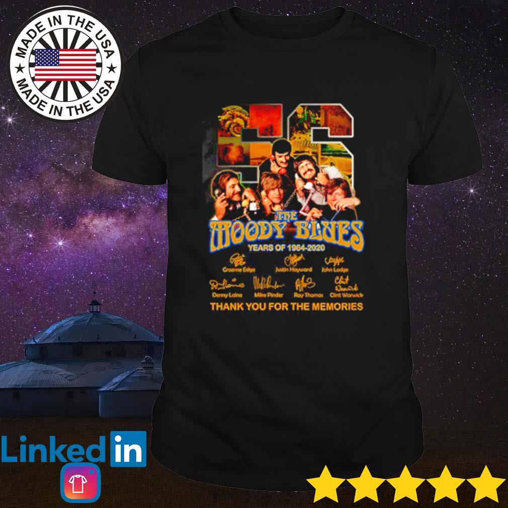 56 Years of The Moody Blues 1964-2020 thank you for the memories signatures shirt