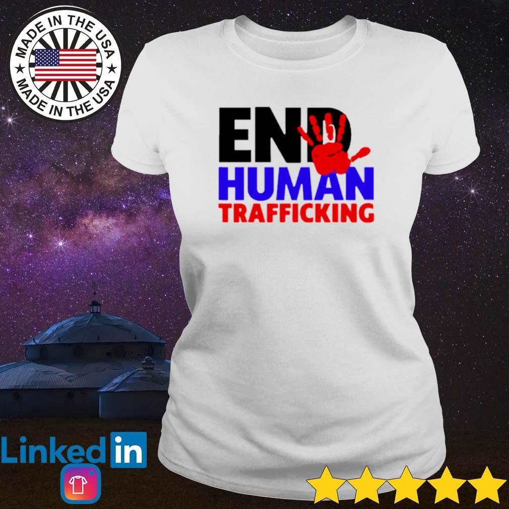 End Human Trafficking s Ladies Tee White