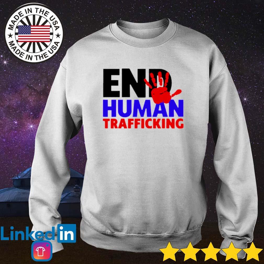End Human Trafficking s Sweater White
