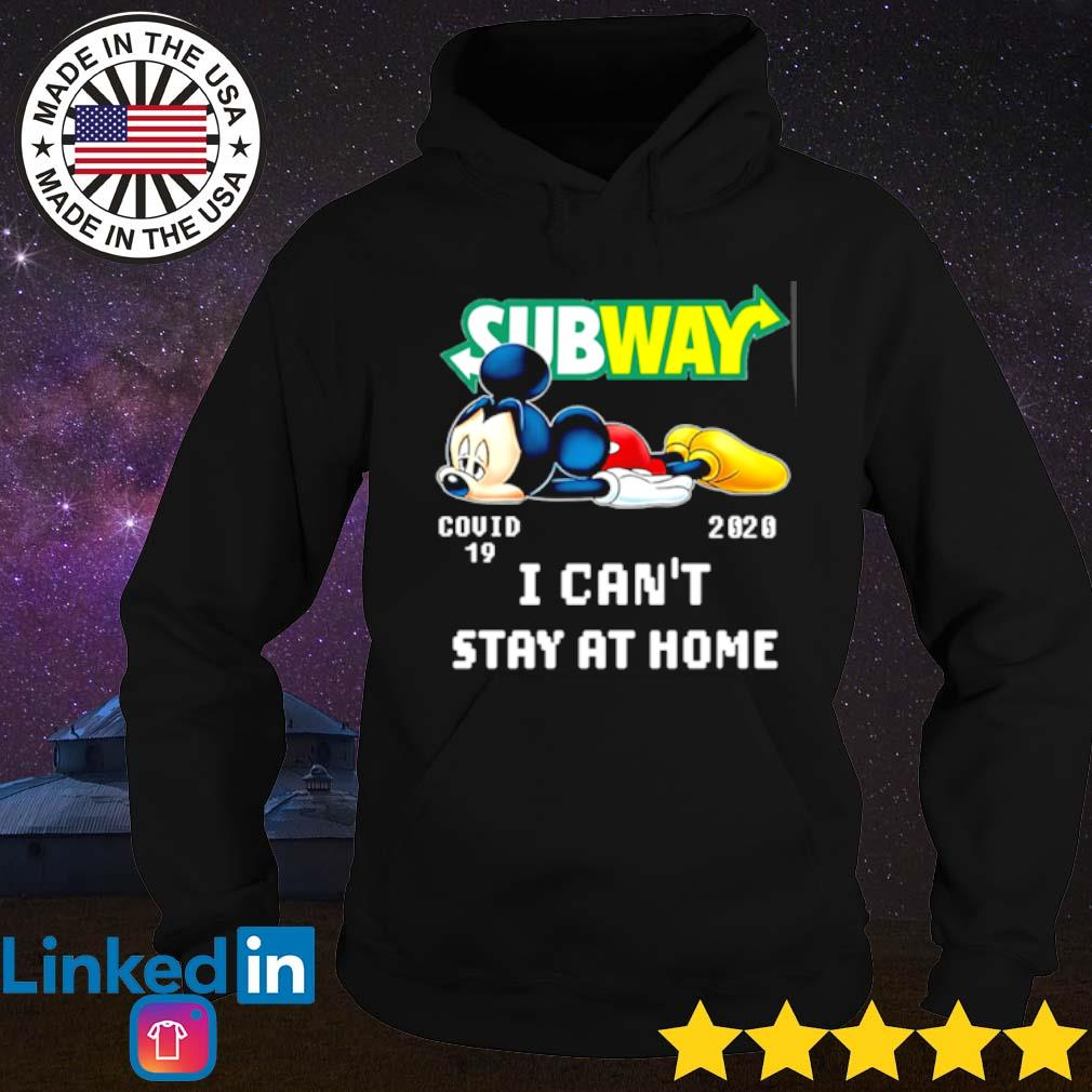 Mickey Mouse Subway COVID-19 2020 I can't stay at home s Hoodie Black