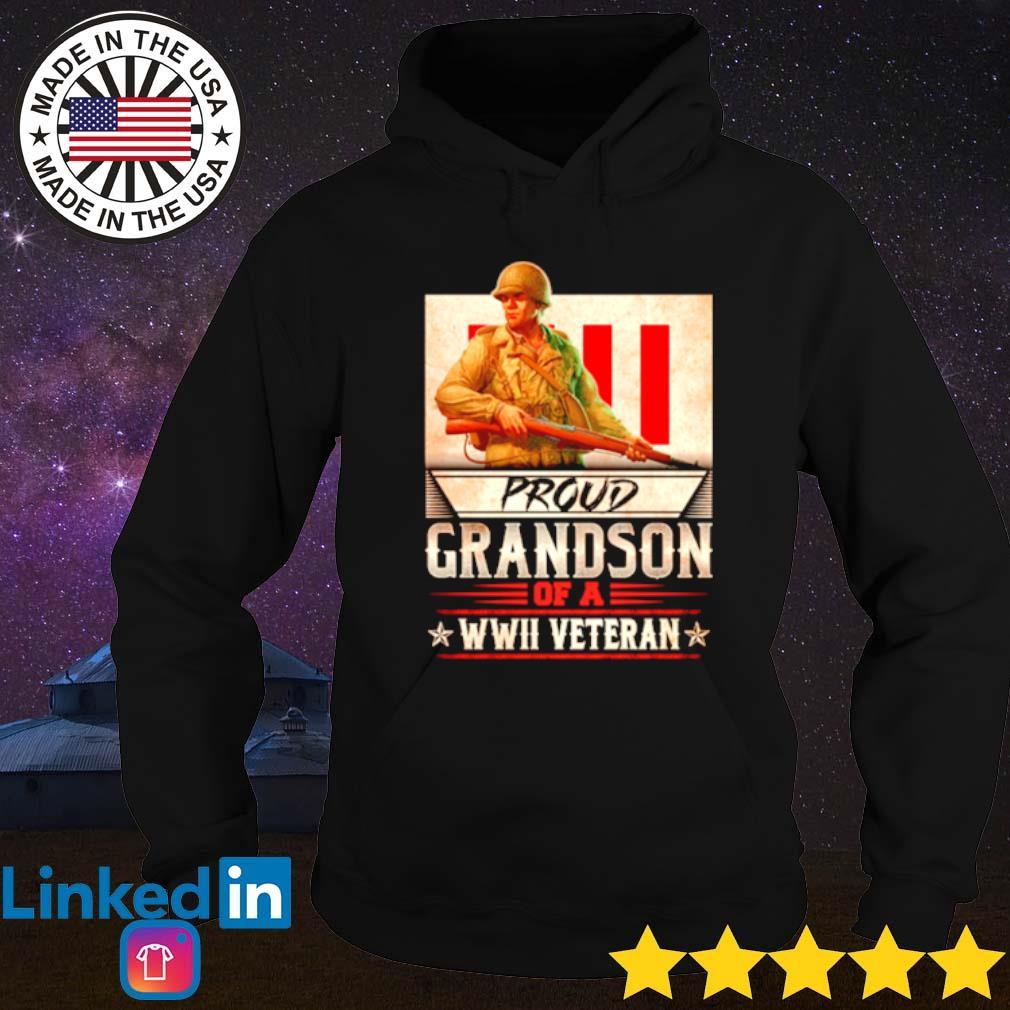 Proud Grandson of a WWII Veterans s Hoodie Black