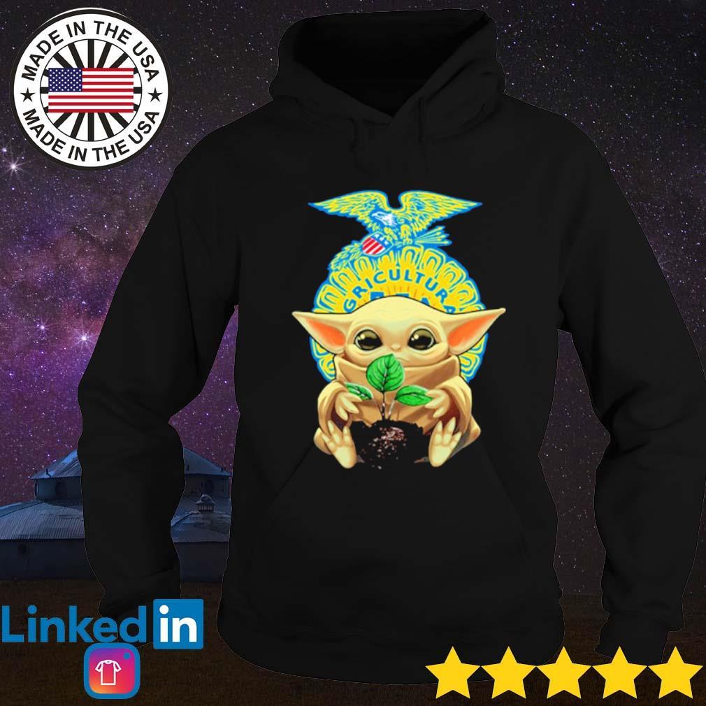 Baby Yoda hug FFA emblem s Hoodie Black