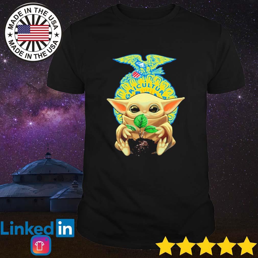 Baby Yoda hug FFA emblem shirt