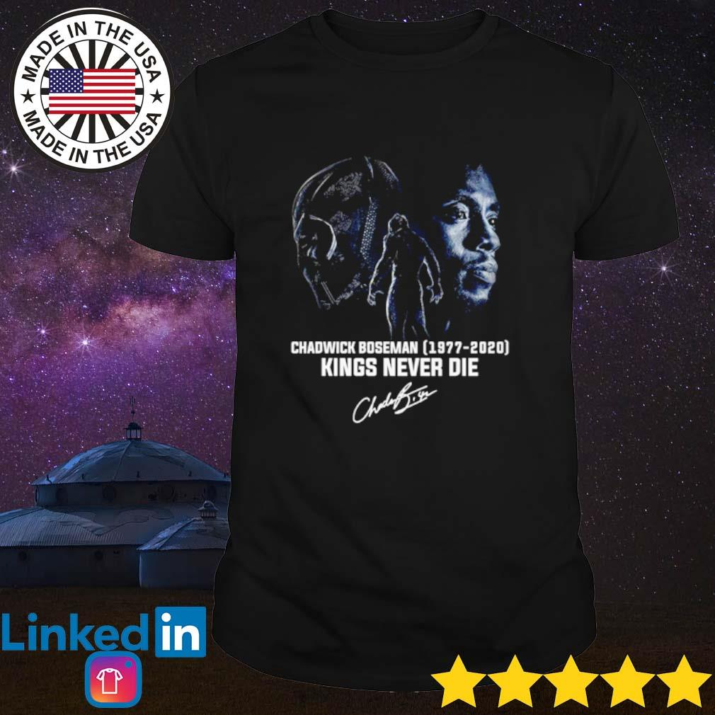 Chadwick Boseman 1977-2020 Kings never die signature shirt