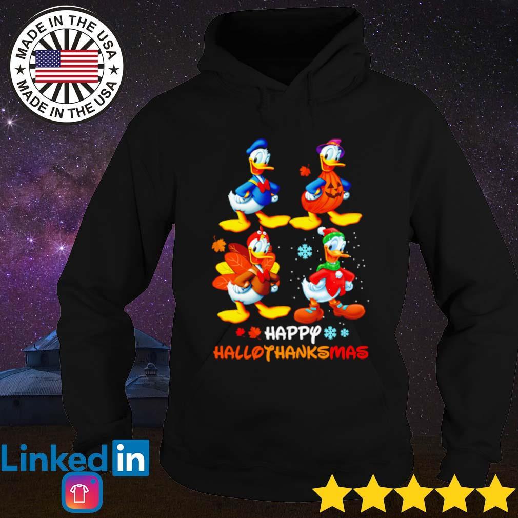 Donald Duck happy Hallothanksmas s Hoodie Black
