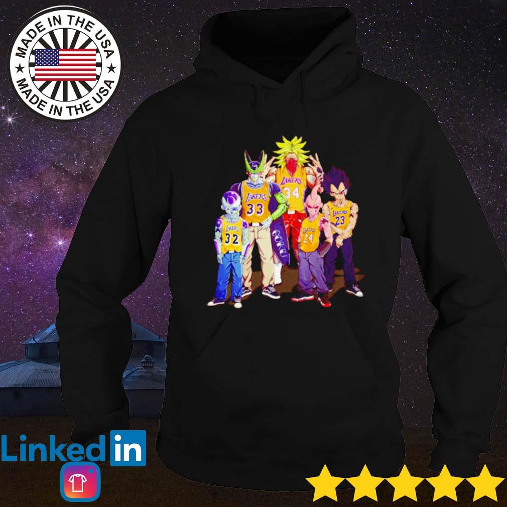 Dragon Ball Z all characters Los Angeles Lakers s Hoodie Black