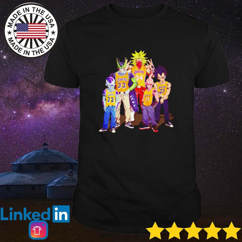 Dragon Ball Z all characters Los Angeles Lakers shirt