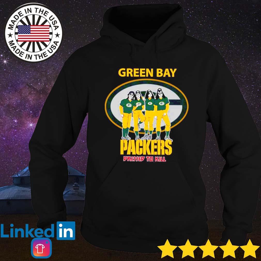 Green Bay Packers Kiss Dressed To Kill s Hoodie Black