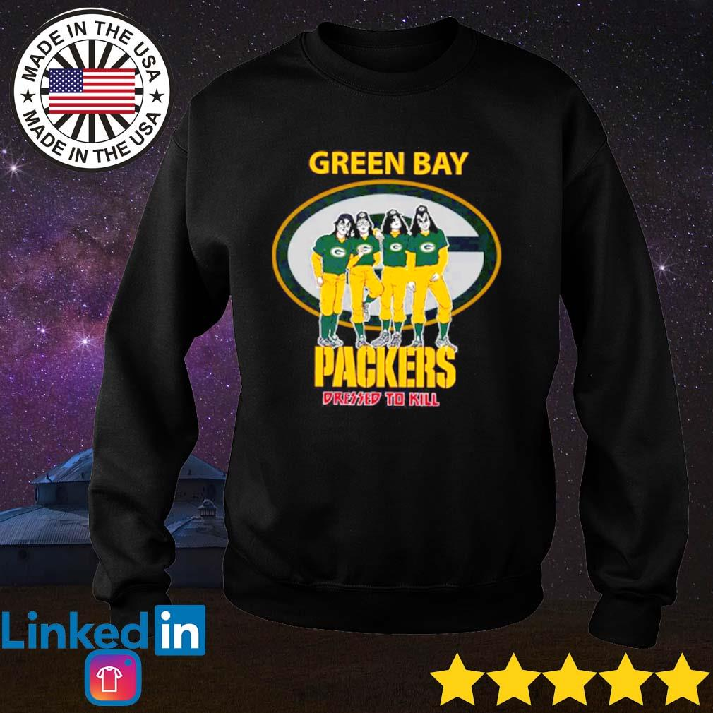 Green Bay Packers Kiss Dressed To Kill s Sweater Black