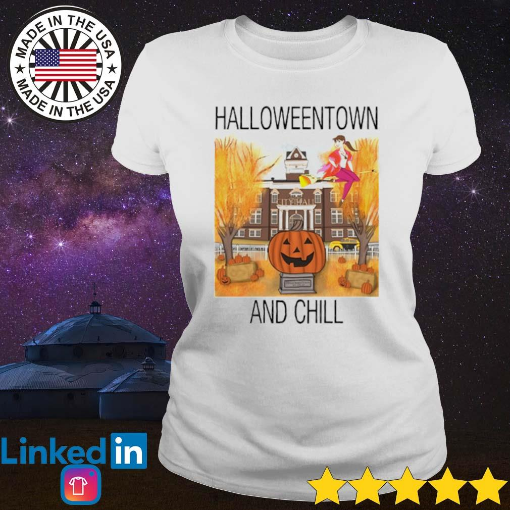 Halloweentown and chill s Ladies Tee White