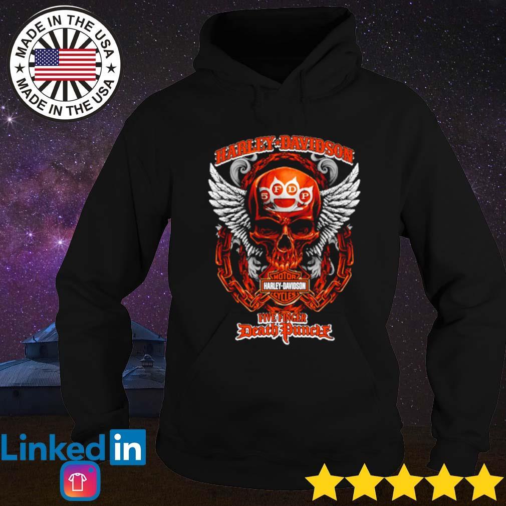 Harley-Davidson Motor Harley Davidson Cycles Five Finger Death Punch s Hoodie Black