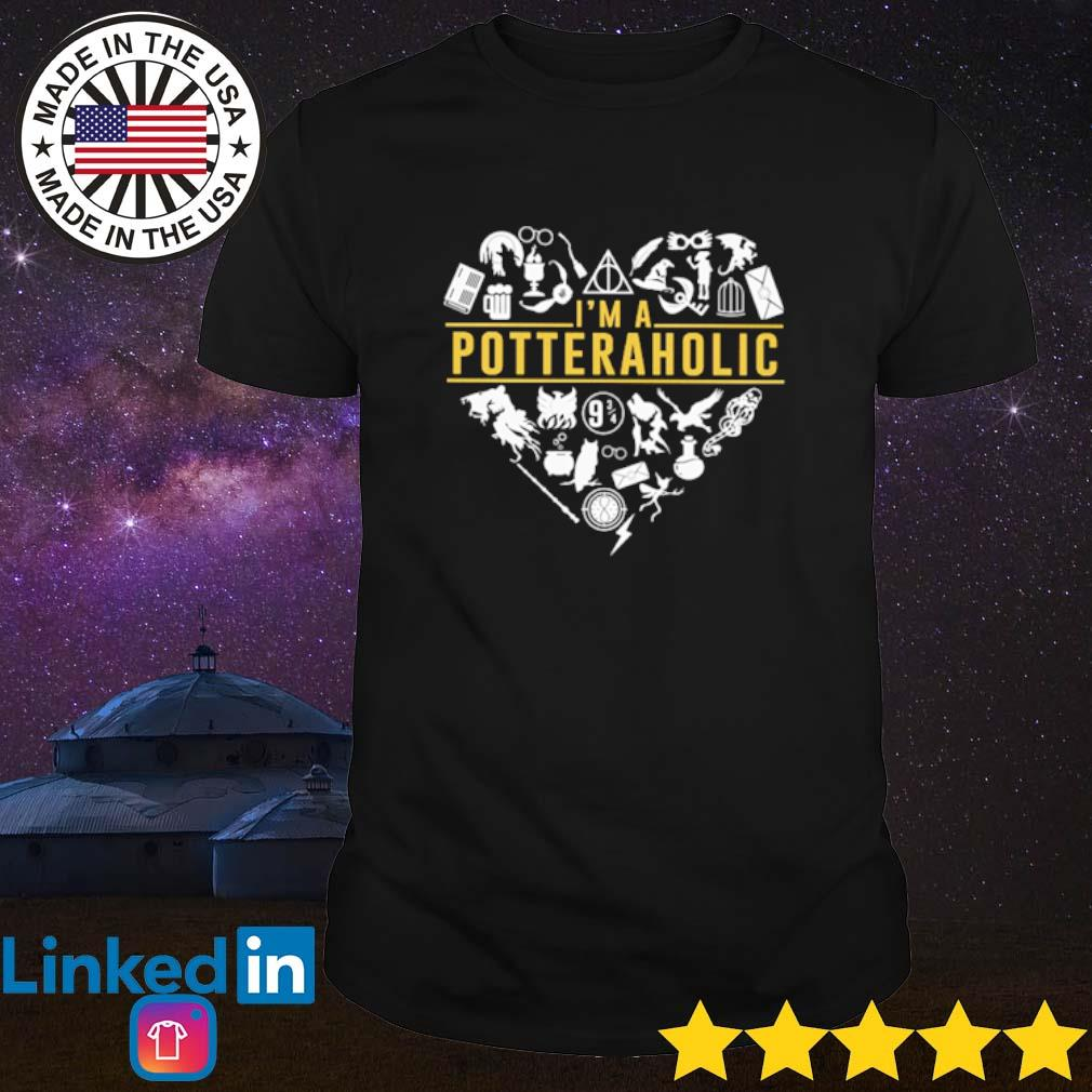 Heart Harry Potter I'm a potter aholic shirt