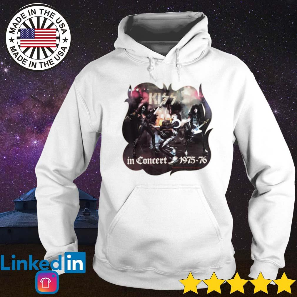 Kiss in Concert 1975-76 s Hoodie White