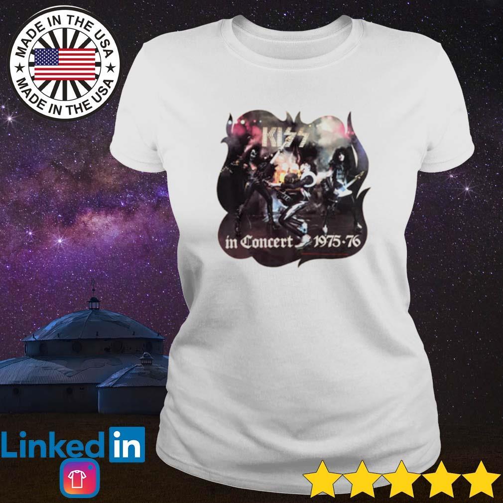 Kiss in Concert 1975-76 s Ladies Tee White