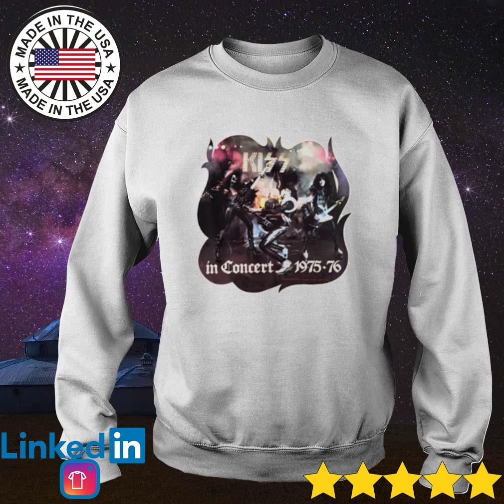 Kiss in Concert 1975-76 s Sweater White