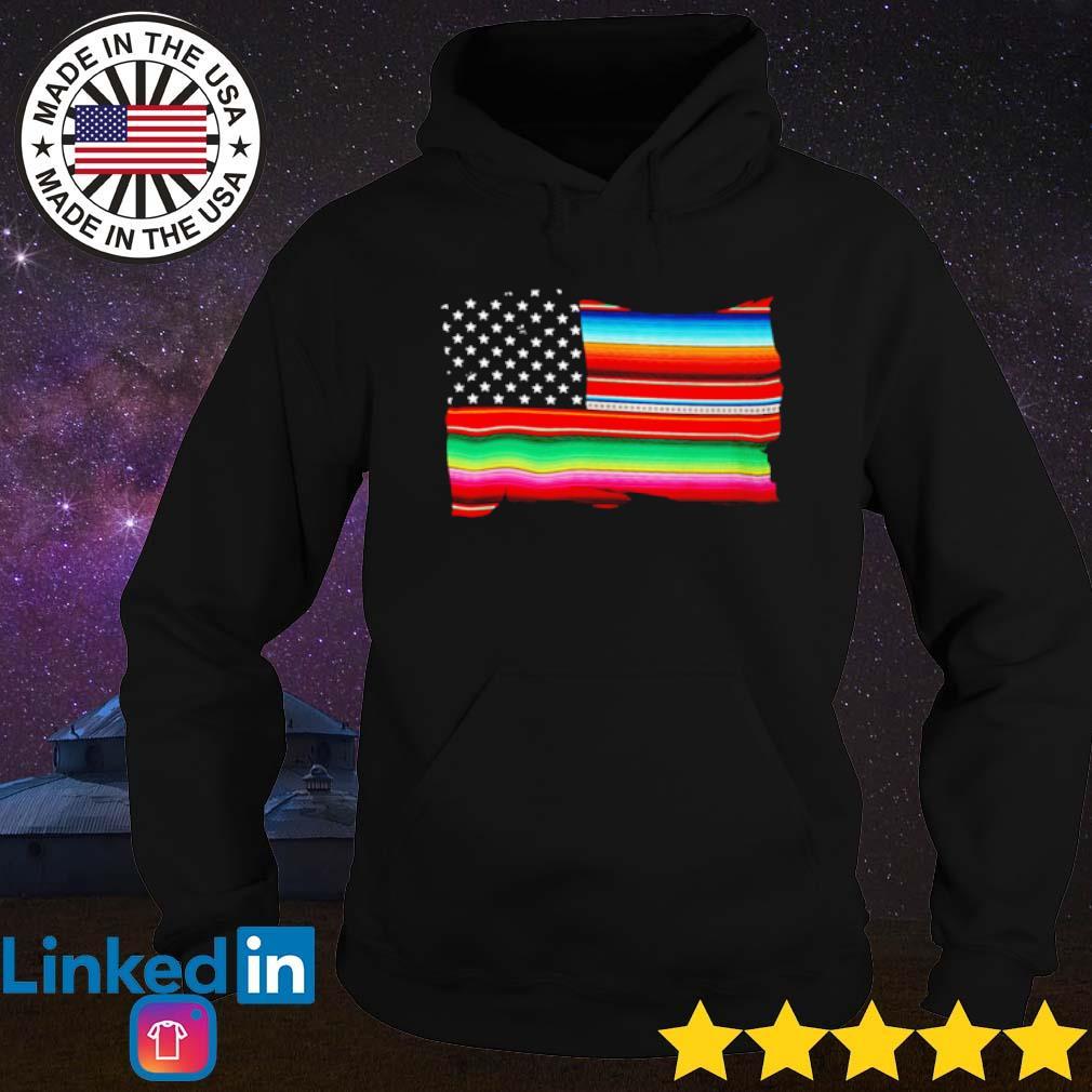 LGBT USA Flag s Hoodie Black