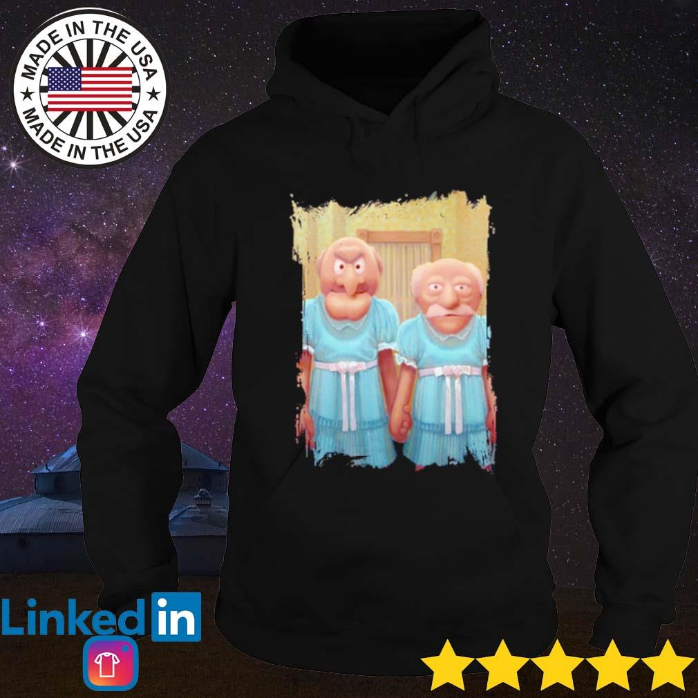Muppet Maniac-Statler And Waldorf as the Grady Twins s Hoodie Black