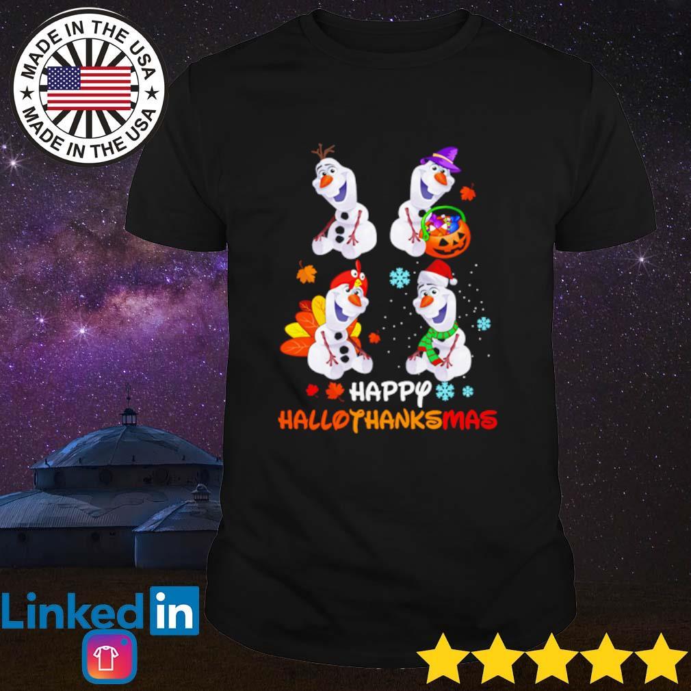 Olaf happy Hallothanksmas shirt