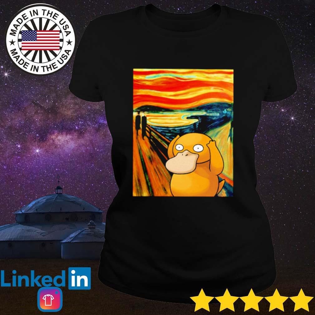 Pokemon Psyduck Van Gogh s Ladies Tee Black