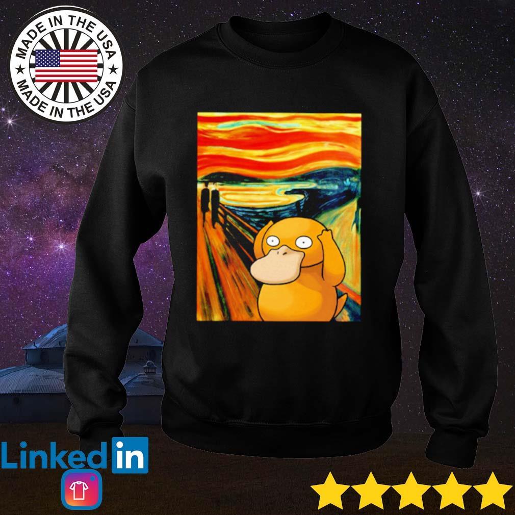 Pokemon Psyduck Van Gogh s Sweater Black