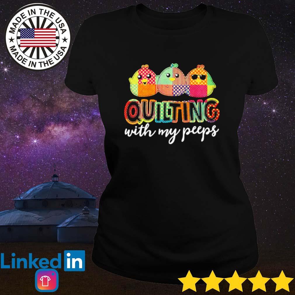 Quilting with my peeps s Ladies Tee Black