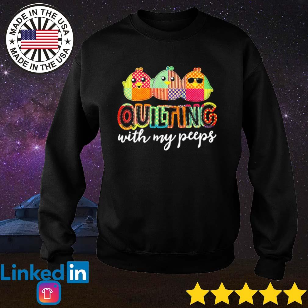Quilting with my peeps s Sweater Black