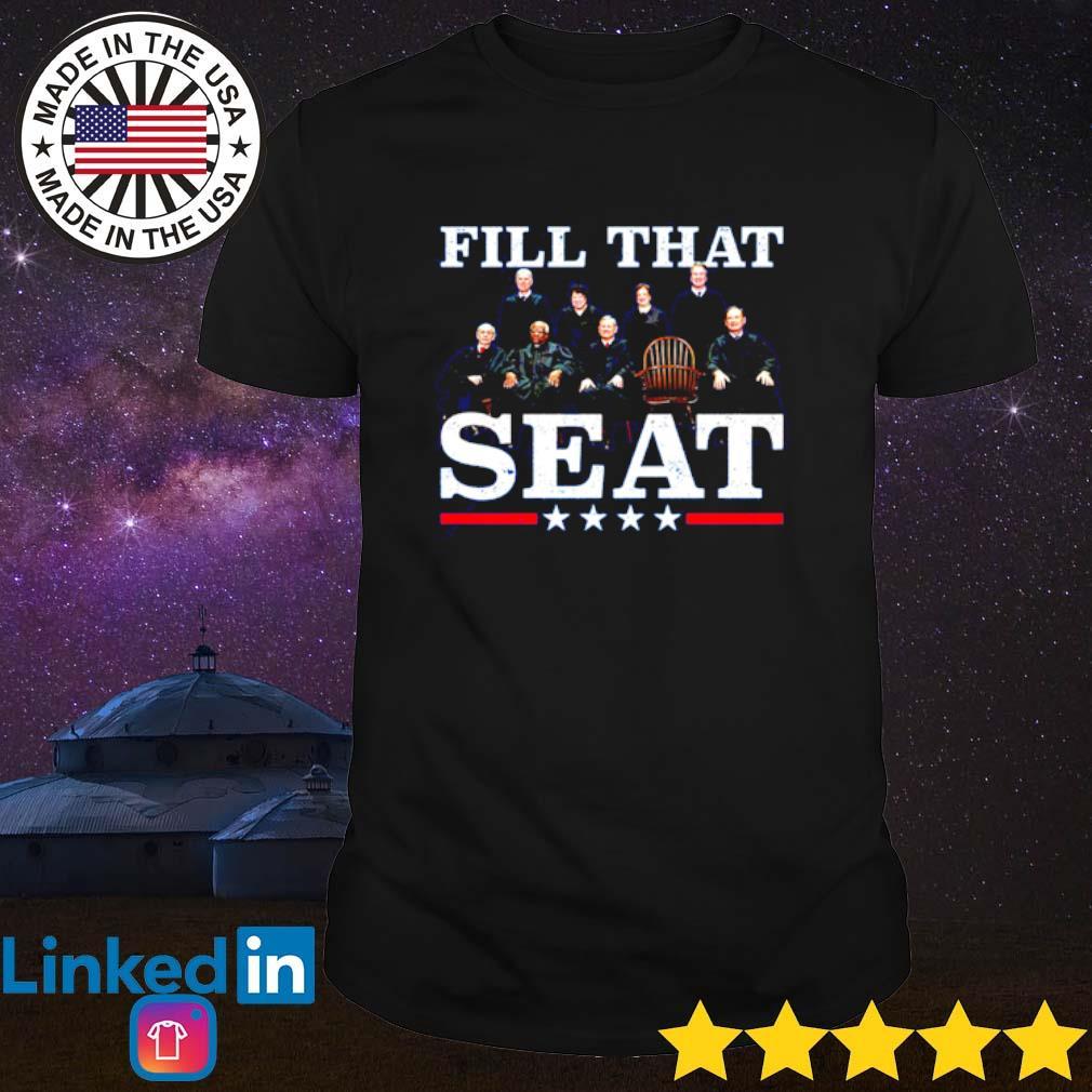 Ruth Bader Ginsburg fill that seat shirt