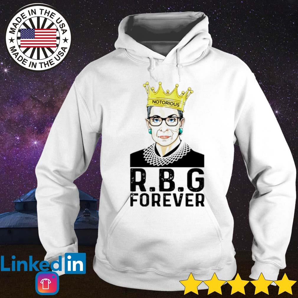 Ruth Bader Ginsburg R.B.G forever s Hoodie White
