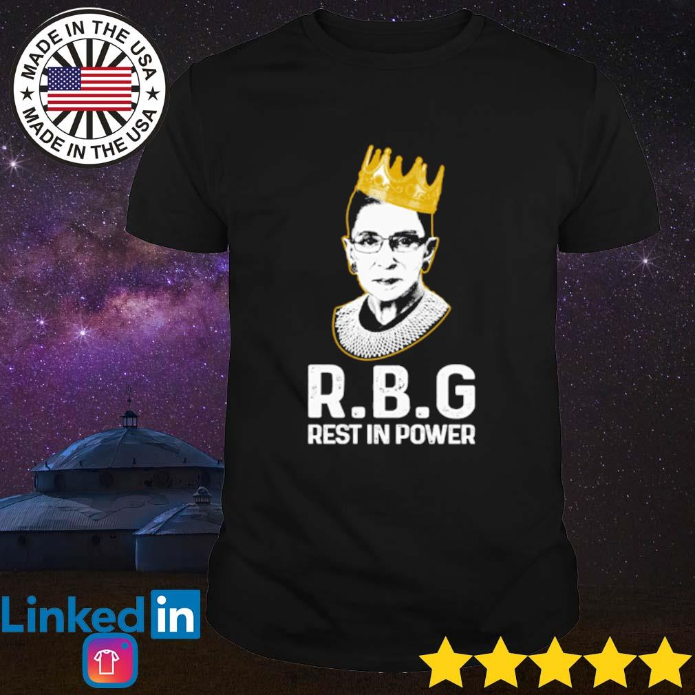 Ruth Bader Ginsburg R.B.G Rest in power shirt