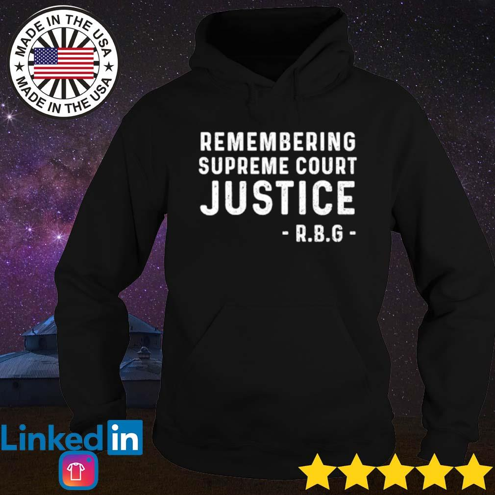 Ruth Bader Ginsburg remembering supreme court justice R.B.G s Hoodie Black