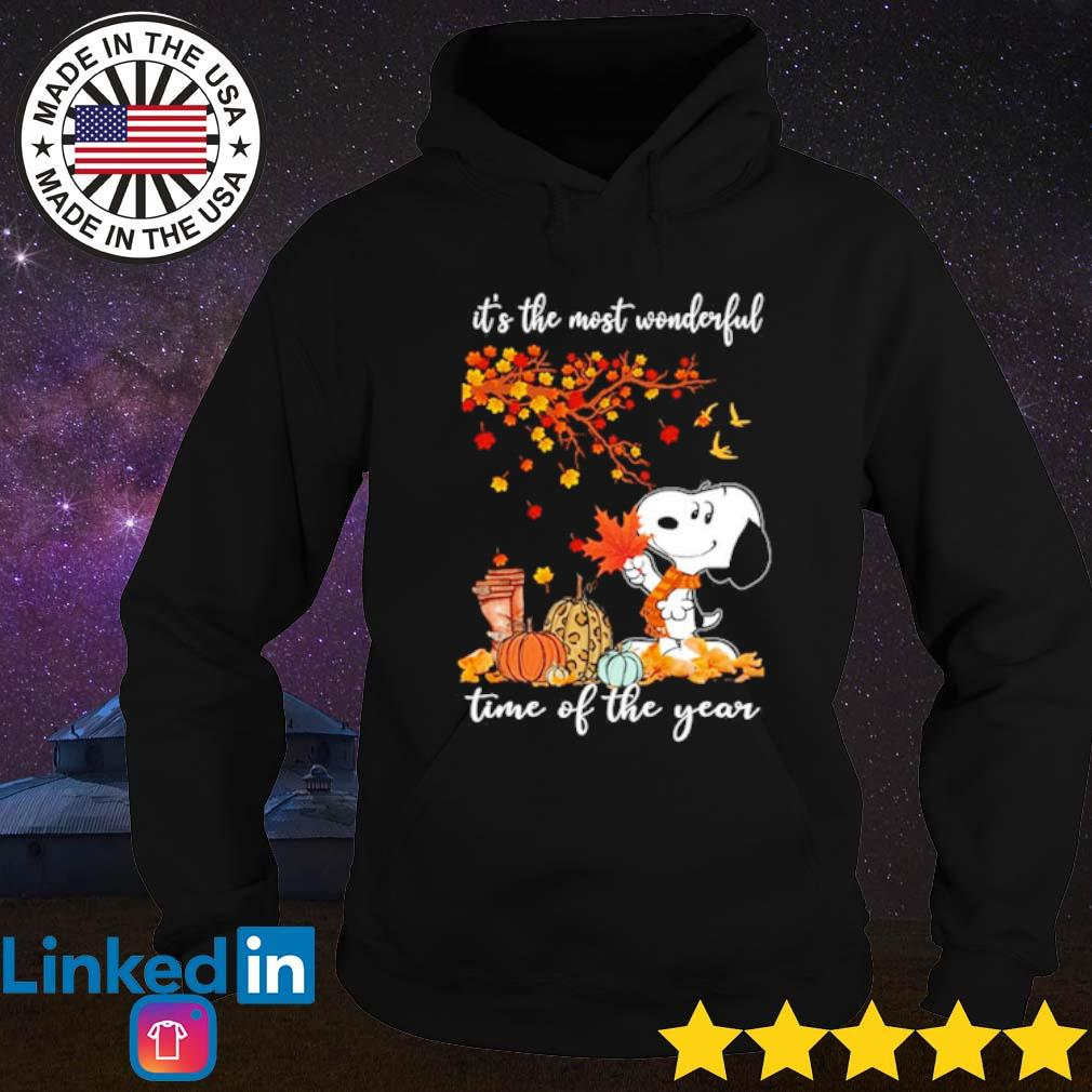 Snoopy it's the most wonderful time of the year s Hoodie Black