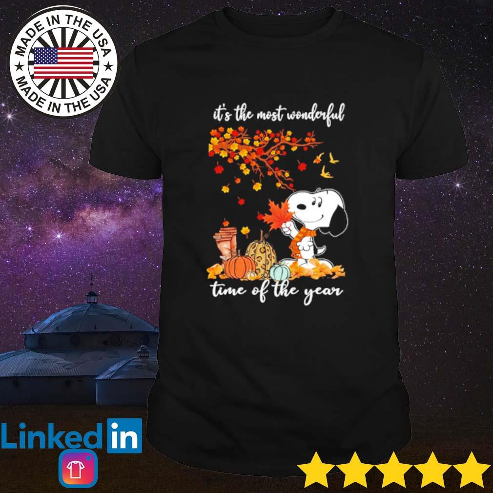 Snoopy it's the most wonderful time of the year shirt