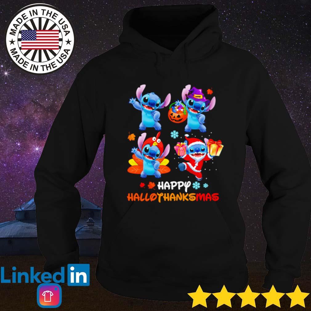 Stitch Happy Hallothanksmas s Hoodie Black