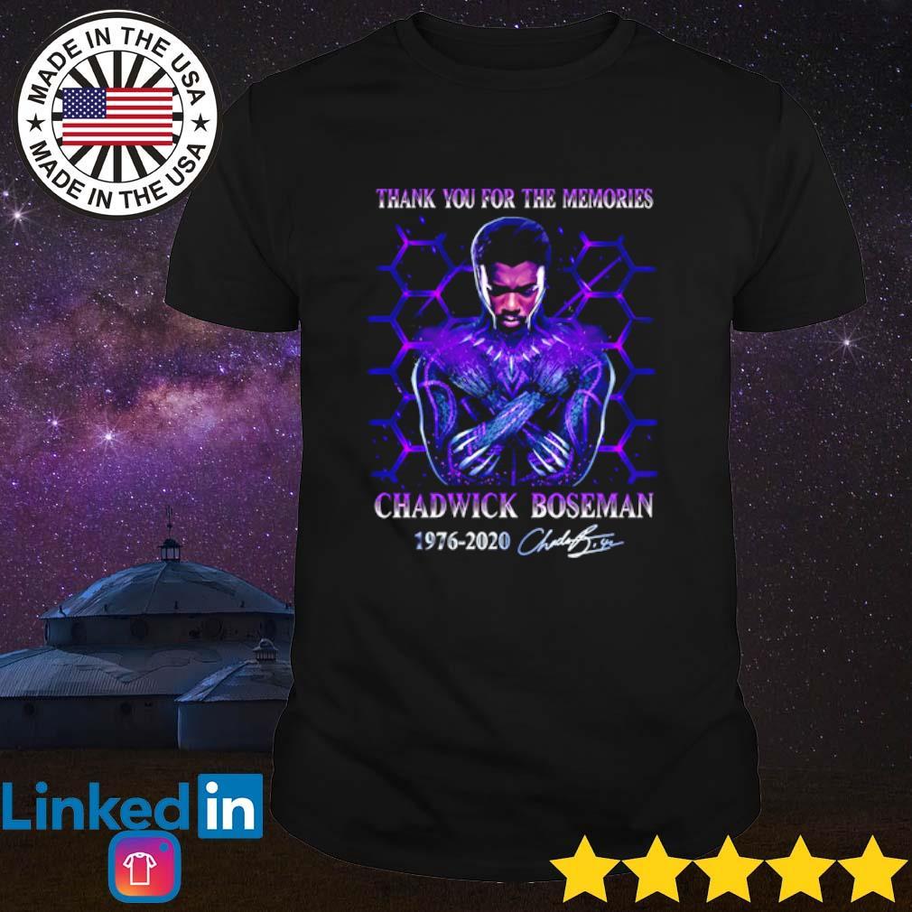 Thank you for the memories Chadwick Boseman 1976-2020 signature shirt
