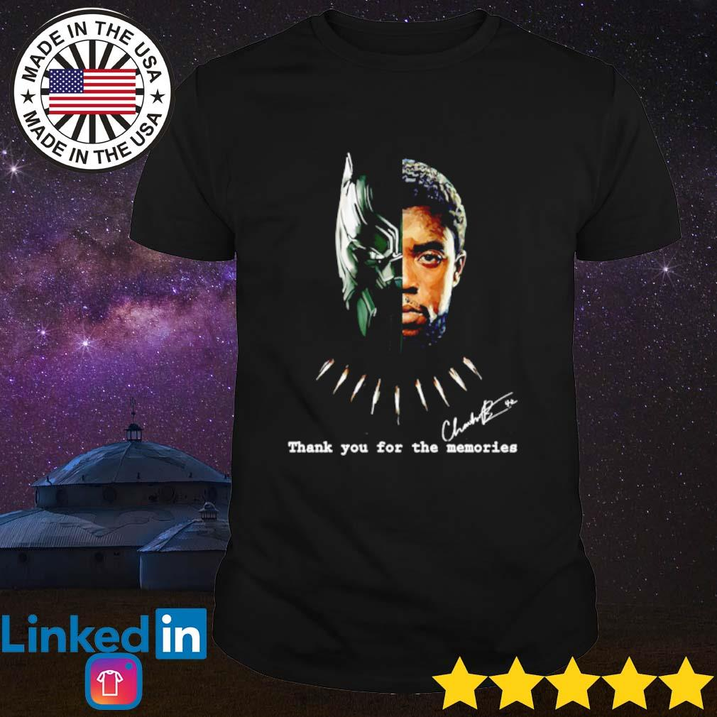 Thank you for the memories Chadwick Boseman Black Panther signature shirt