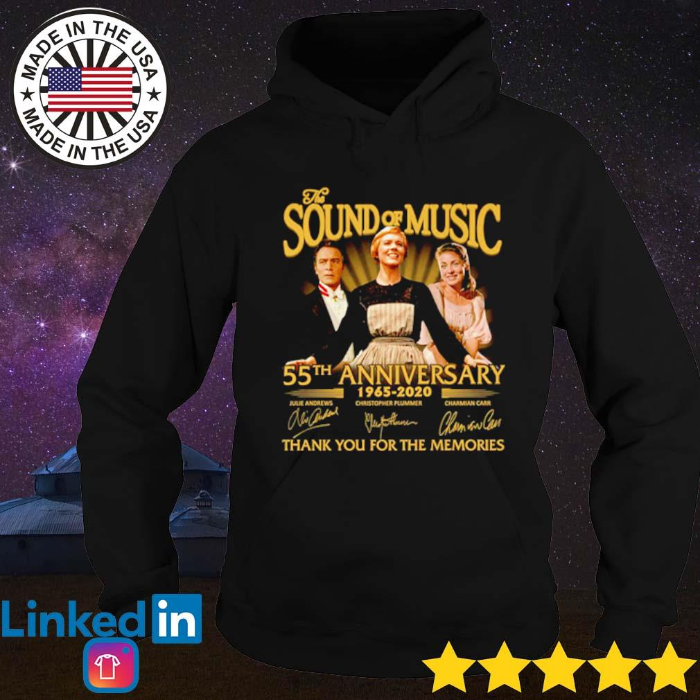 The sound of music 55th Anniversary 1965-2020 thank you for the memories signature s Hoodie Black