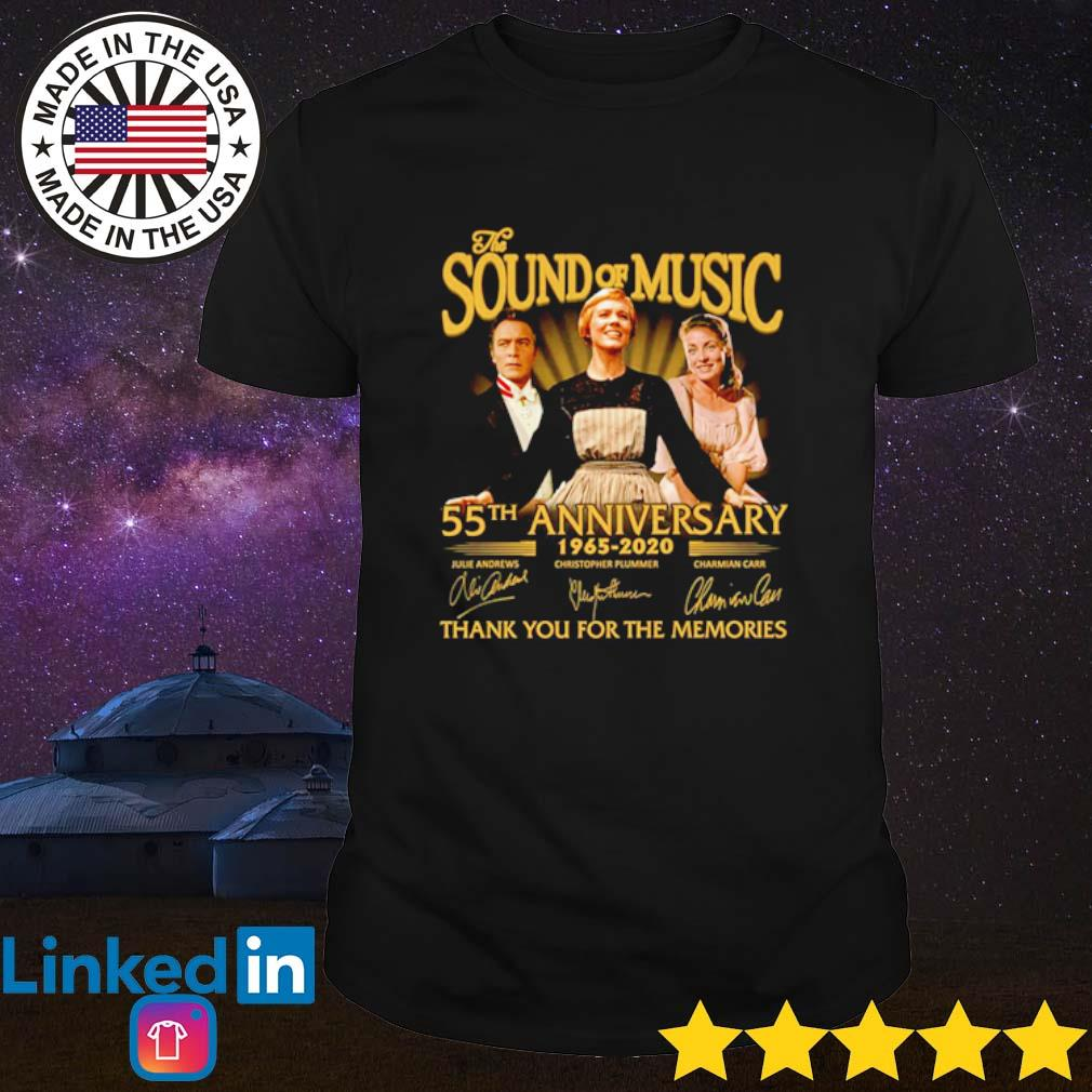 The sound of music 55th Anniversary 1965-2020 thank you for the memories signature shirt