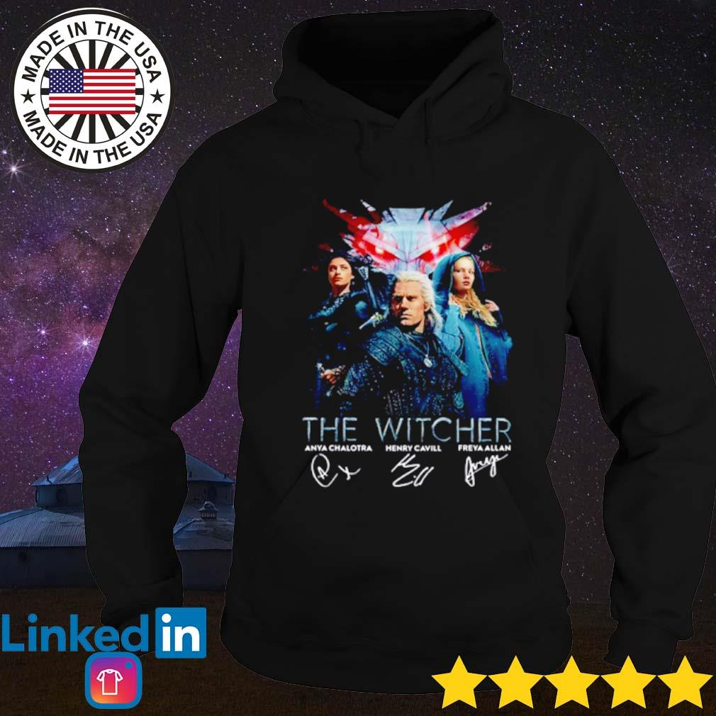 The Witcher all characters signatures s Hoodie Black