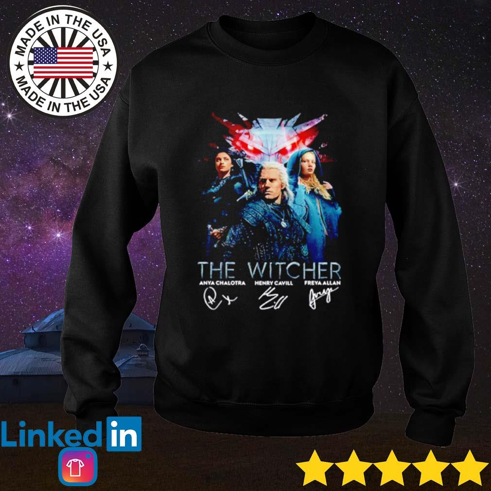 The Witcher all characters signatures s Sweater Black