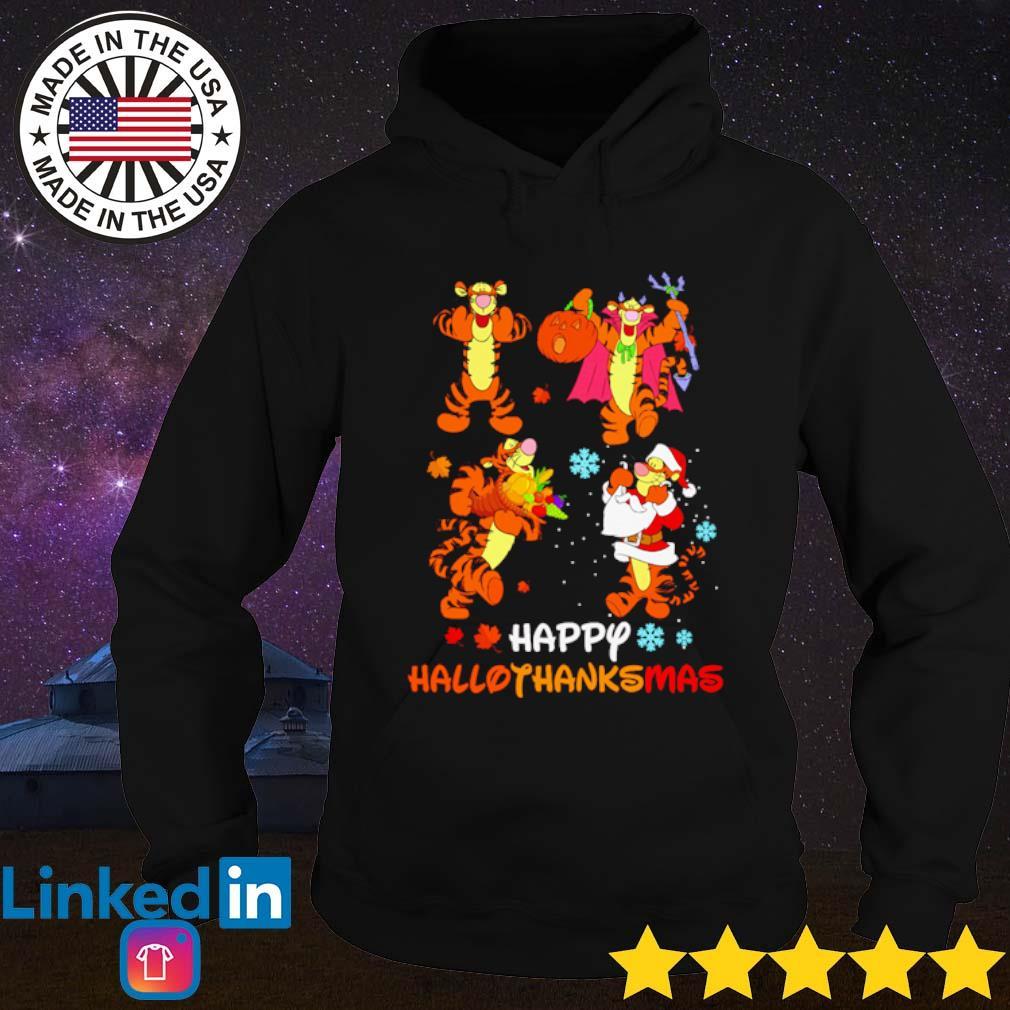 Tigger Happy Hallothanksmas s Hoodie Black