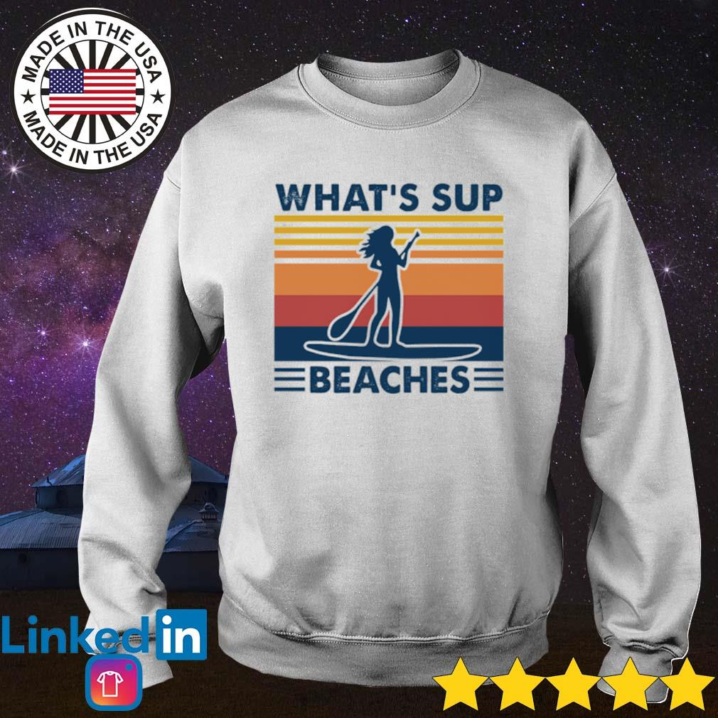 Vintage Paddleboard what's sup beaches s Sweater White