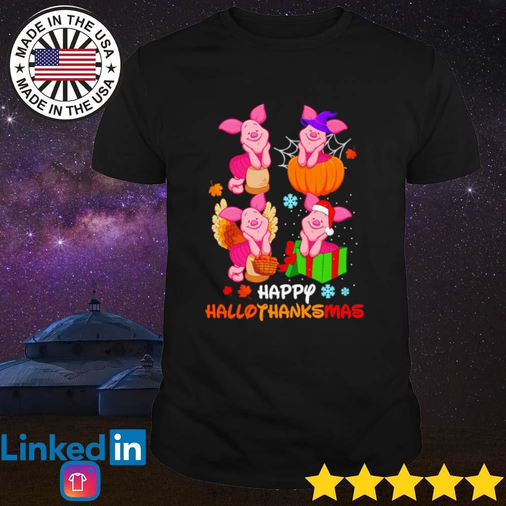 Winnie The Pooh Piglet happy Hallothanksmas shirt