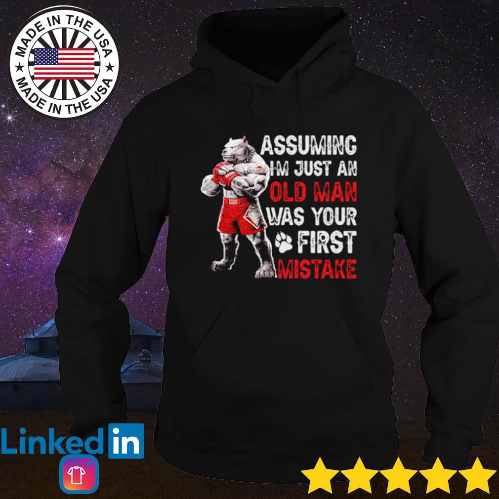 Wolf Assuming I'm just an old man was your first mistake s Hoodie Black