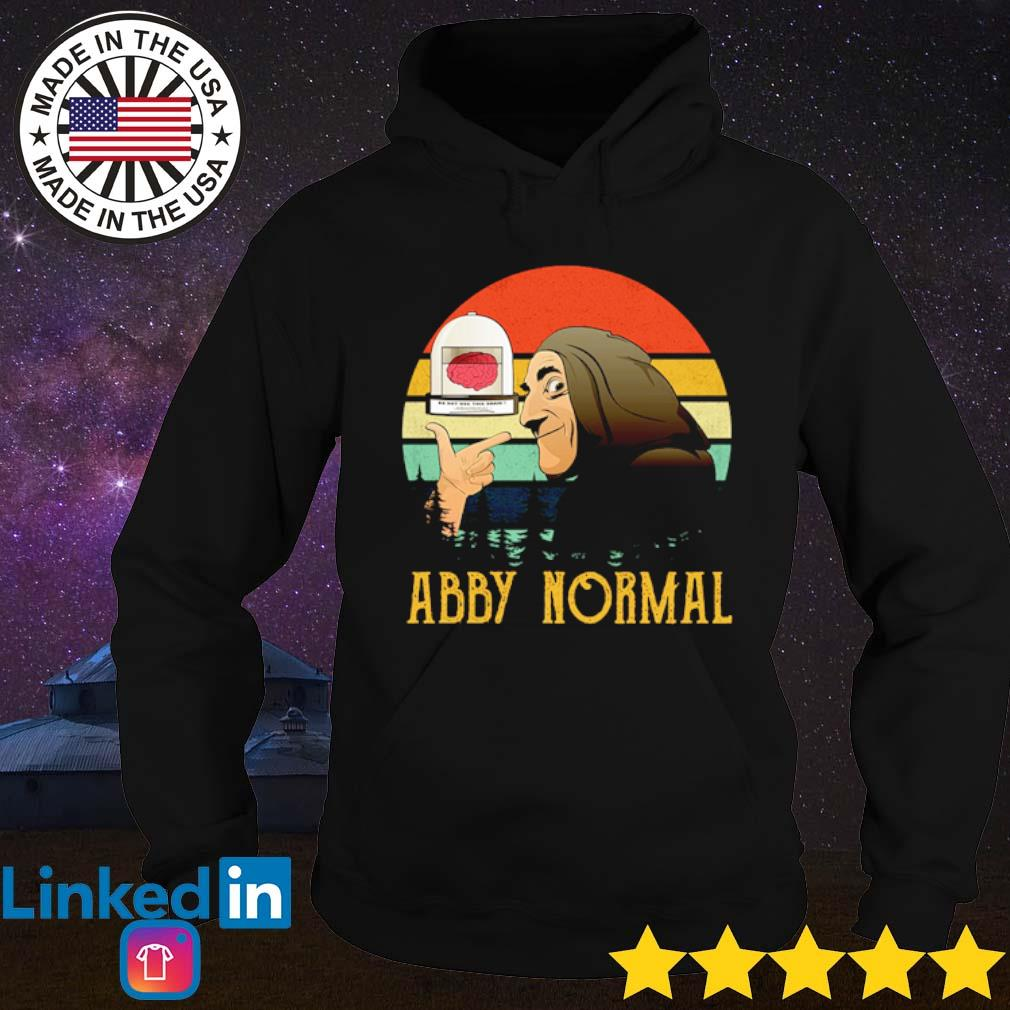 Young Frankenstein Abby Normal vintage s Hoodie Black