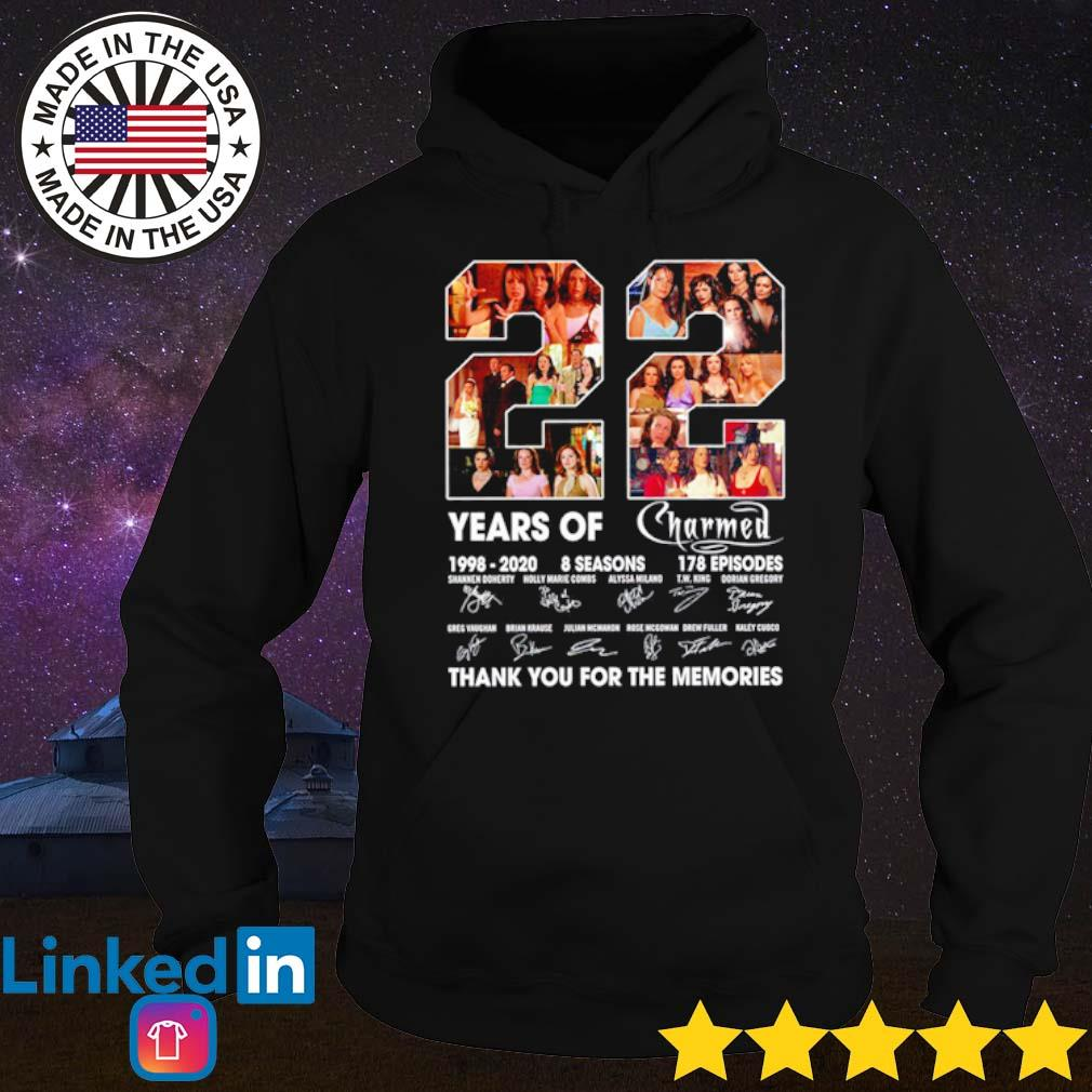 22 Years of Charmed 1998-2020 8 seasons 178 episodes thank you for the memories signatures s Hoodie