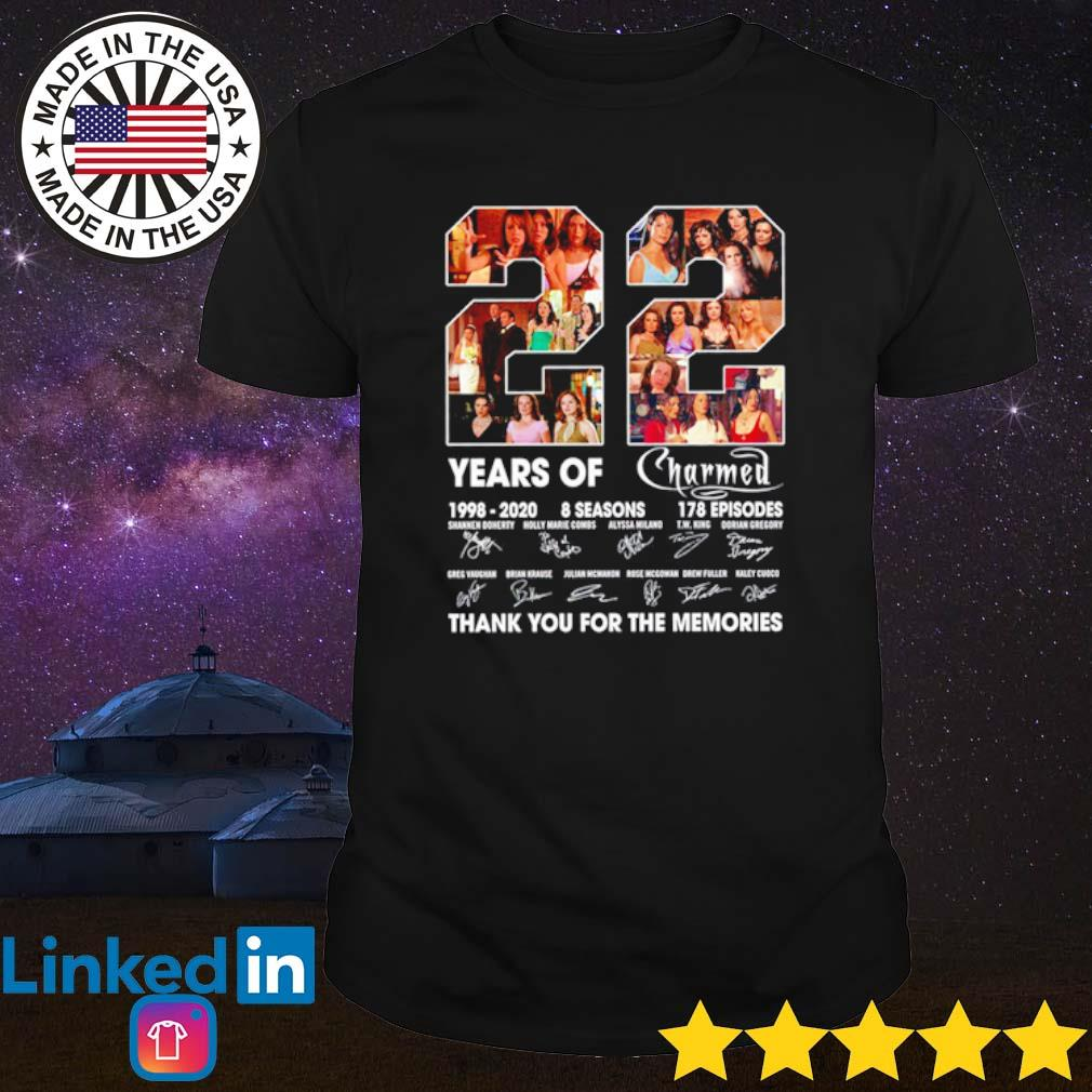 22 Years of Charmed 1998-2020 8 seasons 178 episodes thank you for the memories signatures shirt