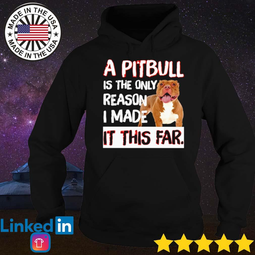 A pitbull is the only reason I made it this far s Hoodie