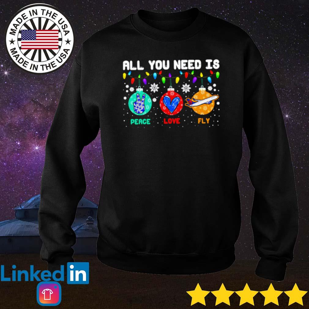 All you need is peace love fly Christmas sweater