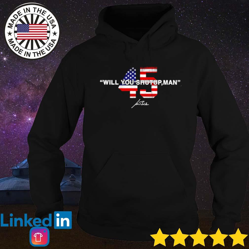 American 45 will you shut up man s Hoodie Black
